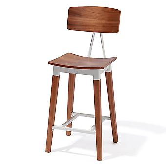 Abbott Retro Contemporary Wood/Steel Barstool