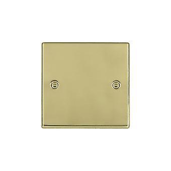 Hamilton Litestat Hartland Polished Brass Single Blank Plate
