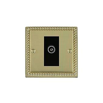 Hamilton Litestat Cheriton Georgian Polished Brass 1g No-Isolat TV (Female) BL