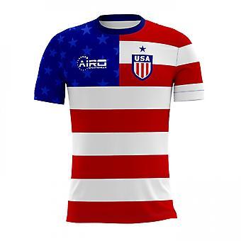 2020-2021 США Главная Концепция Футбол Рубашка (Дети)