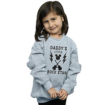 Disney Girls Mickey Mouse Daddy's Rock Star Sweatshirt