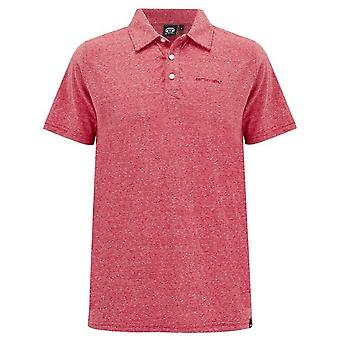 Animal Sonny Polo Shirt in Rich Red Marl