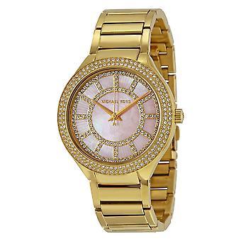 Michael Damenuhr Kors Kerry Gold Armband Rosa Zifferblatt MK3396