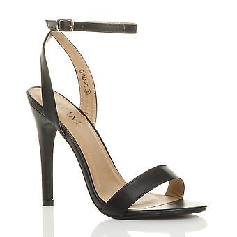 Sangle de cheville de plateforme Ajvani womens talons hauts sandales lanières à peine là-bas chaussures