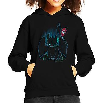 Wie trainieren Sie Ihren Drachen Schatten Night Fury Kid Sweatshirt mit Kapuze