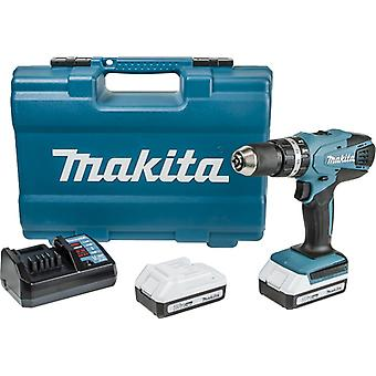 Makita HP457DWE10 18v taladro Combi Li-ion con 2 baterías