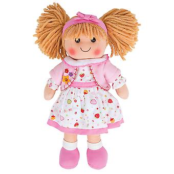 Bigjigs Toys Soft Plush Kelly Doll (34cm) Ragdoll Cuddly Toy Traditional