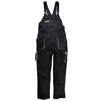 Portwest Mens Industrial Workwear Contrast Bib & Brace Dungarees