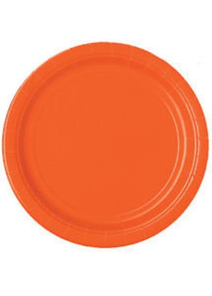 """Orange Paper Plates 9"""""""