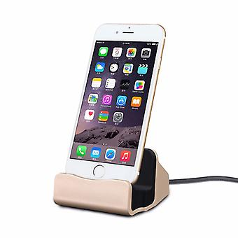 Cradle sync charger dock charging stand for Apple iPhone 5 S 5 C SE 6 7 7 S 6 S plus gold