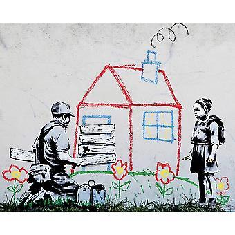 Banksy legehus Print plakat plakat Print