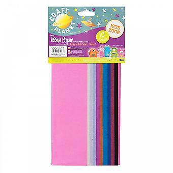 Pianeta del tessuto carta del mestiere (10 colori assortiti) * * ^