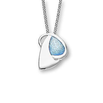 Sterling Silver Scottish Archibald Knox Bombay Sapphire Enamel Hand Crafted Necklace Pendant