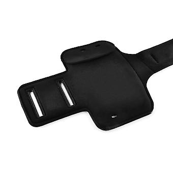 InventCase Smartphone Sports Gym Jogging Running Armband Case Cover Sleeve Pouch - Black (Size: 4.5