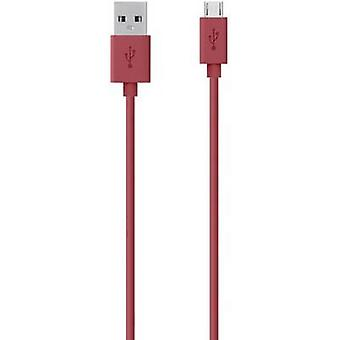 Belkin USB 2.0 Cable [1x USB 2.0 connector A - 1x USB 2.0 connector Micro B] 2.00 m Red