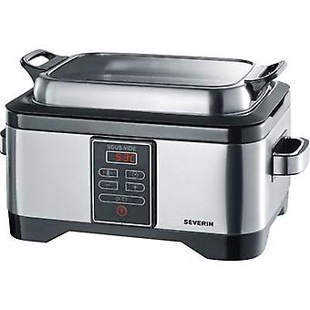 Severin Sous-Vide-Garer Low-temperature cooker Stainless steel, Black