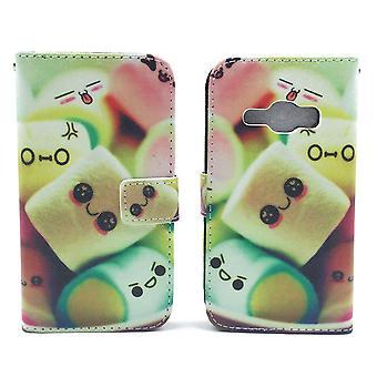 Mobile phone case pochette pour mobile Samsung Galaxy J1 (2016) guimauves