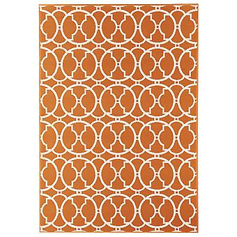 Outdoor carpet for Terrace / balcony vitaminic interlaced Orange 160 / 230 cm carpet indoor / outdoor - for indoors and outdoors