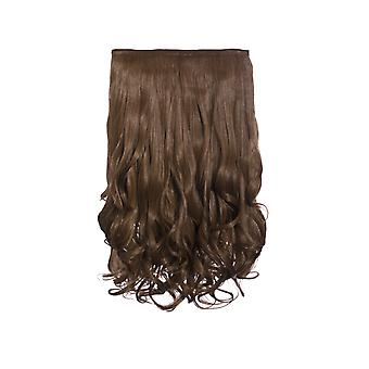 IKRUSH Womens Intense Volume ClipHair Extensions - Curly Golden Brown