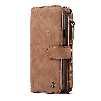 CASEME iPhone XS Max Retro leather wallet Case-brown