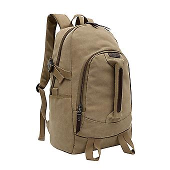 Brown backpack in durable fabric