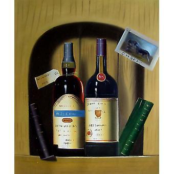 Vino, pittura ad olio su tela, 50x60 cm