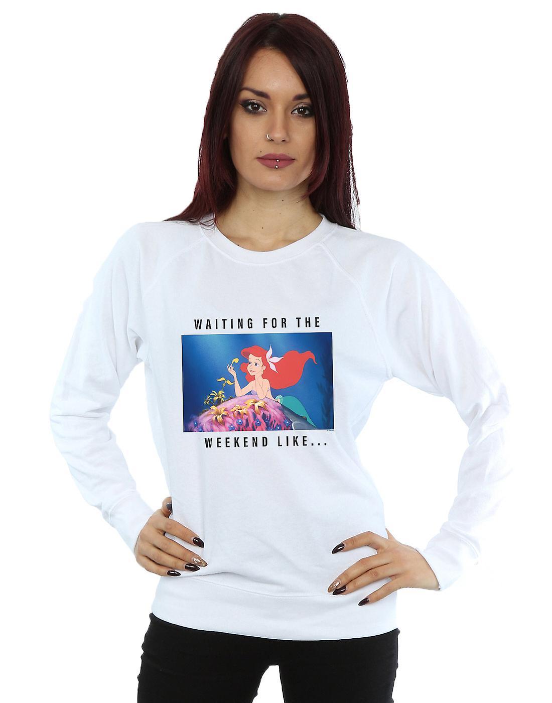 Disney Princess Women's Ariel Waiting For The Weekend Sweatshirt