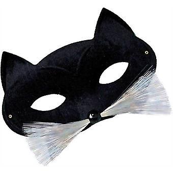 Kissa Domino Eye peite. Musta.