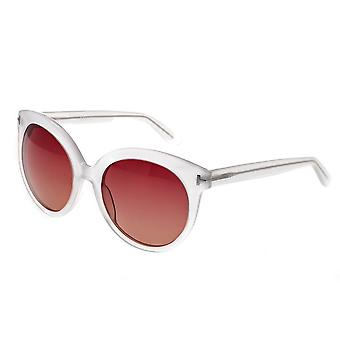 Bertha Violet Polarized Sunglasses - Clear/Brown