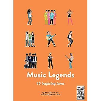 Music Legends: Meet 40 pop� and rock stars (40 Inspiring Icons)