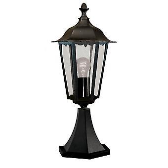 Alex svart utendørs pidestall lys - søkelys 82503BK