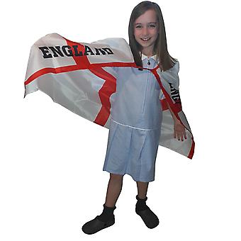 England St George Kids Cape One Size Hook and Loop Neck Attachment Support Football Sporting Events TRIXES