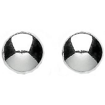 Bella kiillotettu tasainen painiketta korvakorut - Silver