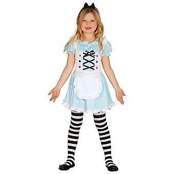 Meisjes Wonderland Alice Fancy Dress kostuum
