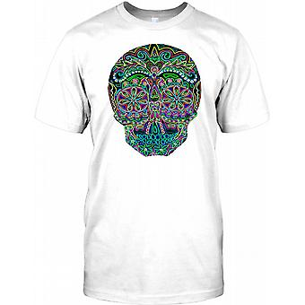 Mexicanske sukker kraniet - sort Neon Herre T-shirt
