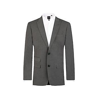 Dobell Herre lys grå Suit jakke passer regelmæssig rejse/ydeevne Notch revers