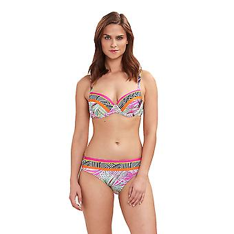 Féraud 3195081-16364 Women's Beach Leaves Multicolor Floral Swimwear Beachwear Bikini Set
