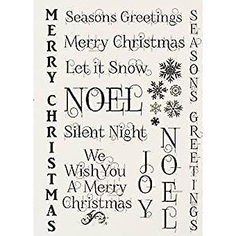 IndigoBlu Seasons Greetings Mounted A6 Rubber Stamp (SG I)