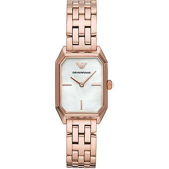 Emporio Armani Ar11147 Rose Gold Tone aço inoxidável senhoras relógios