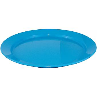 Yellowstone 25cm Plastic Flat Camping Plate Blue