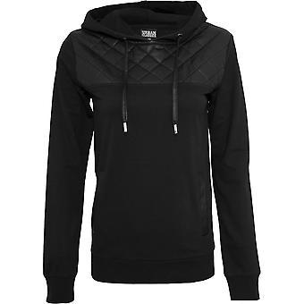Urban Classics Ladies-DIAMANT faux leather hoody black