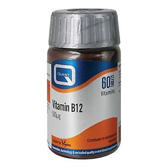 Quest vitamin B12 500mcg tabs 60 (601084)