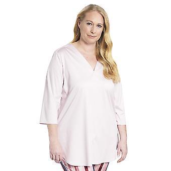 Rösch 1194530-11577 Naiset's Käyrä Uusi Ruusu vaaleanpunainen puuvilla Pyjama Pusero