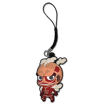 Cell Phone Charm - Attack on Titan - New SD Colossal Titan Licensed ge17205