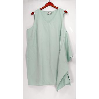 Linea de Louis Dell'Olio Vestido Pequeño 18 Sin Mangas V-Cuello Claro Verde A302556