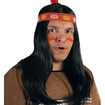 Peruki męskie Indianie Apache