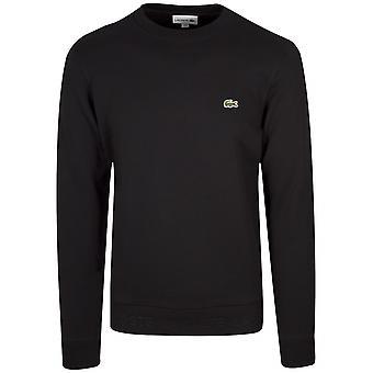 Lacoste svart rund hals genser