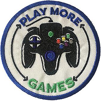 Patch - Video Games - Play More Games Icon-On p-dsx-4685