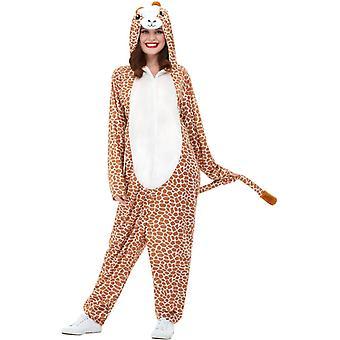 Žirafa kostým hnedá s kapucňou jumpsuit žirafa kostým Unisex