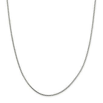 925 Sterling Silver 1.50mm Sparkle Cut Round Spiga Chain Bracelet Jewely Gifts for Women - Comprimento: 7 a 8